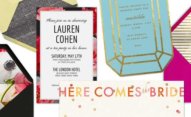 Bridal shower online invitations | blog.theknot.com