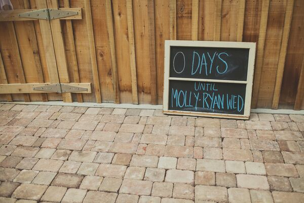 Chalkboard Countdown to Wedding