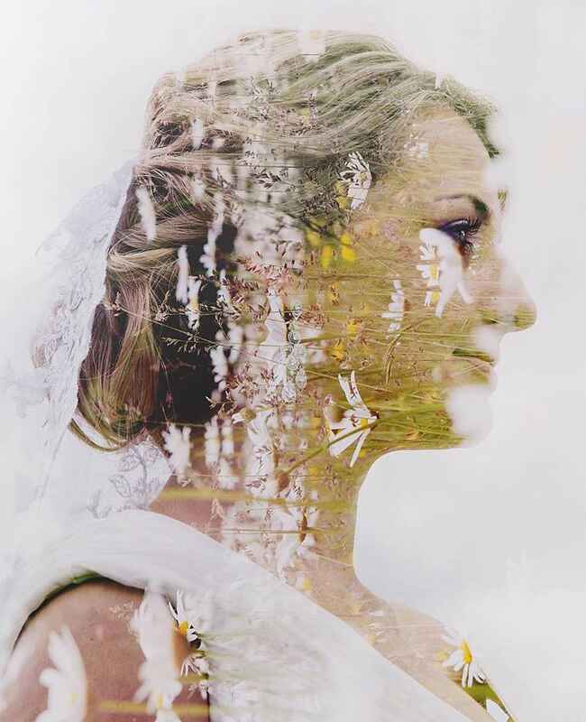 Double Exposure Wedding Photography // The Knot Blog