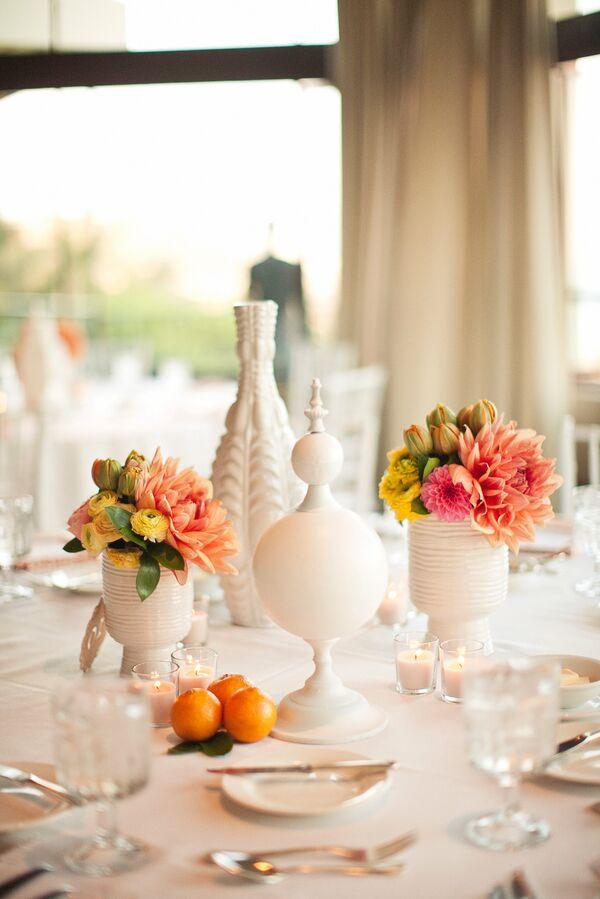 Coral Wedding Centerpieces