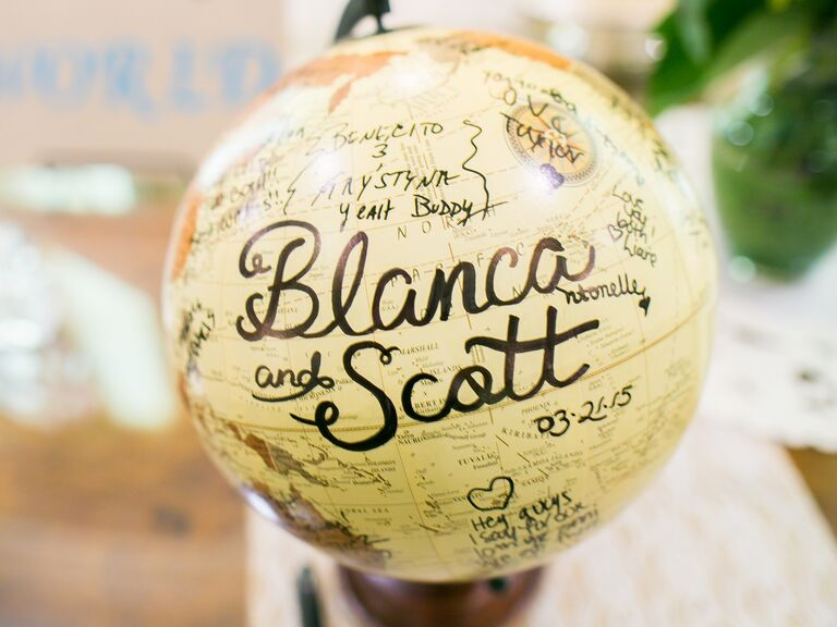 Around-the-world themed engagement party ideas