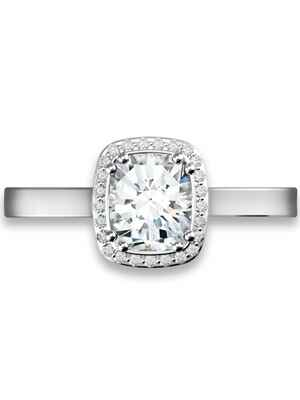Forevermark halo cushion engagement ring