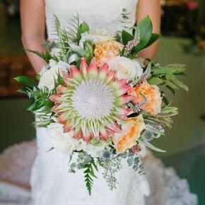 A handmade wildflower bouquet for King protea flower arrangements
