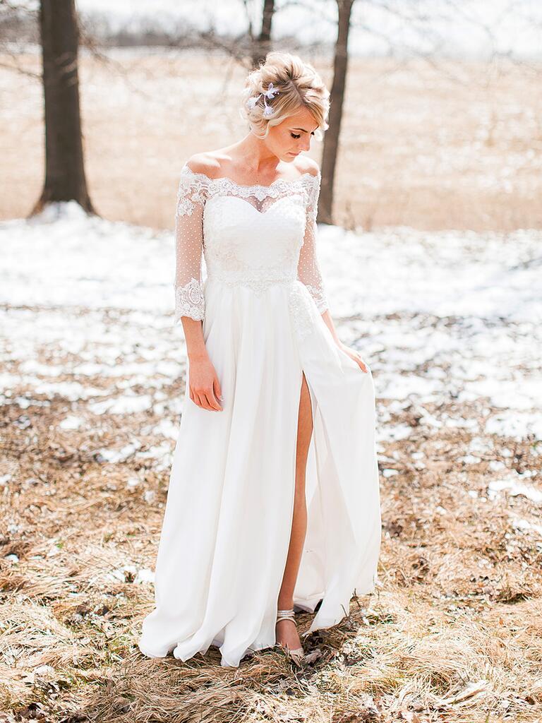Custom wedding gown by Kendra Christine