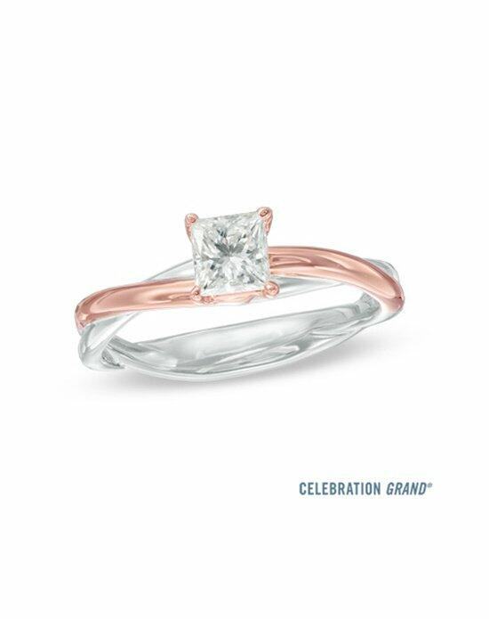 Celebration Diamond Collection at Zales Celebration Grand® 5/8 CT. Princess-Cut Diamond Twist Engagement Ring in 14K Two-Tone Gold (I-J/I1)  19990306 Engagement Ring photo