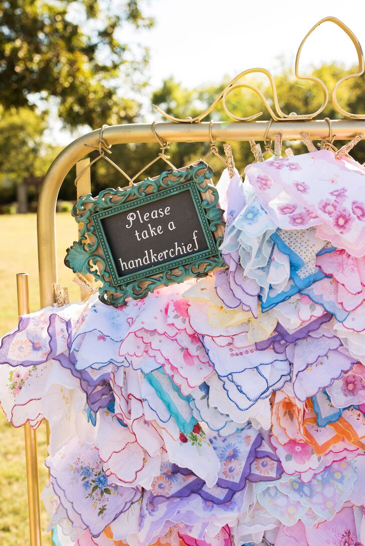 Colorful Vintage Handkerchief Favors