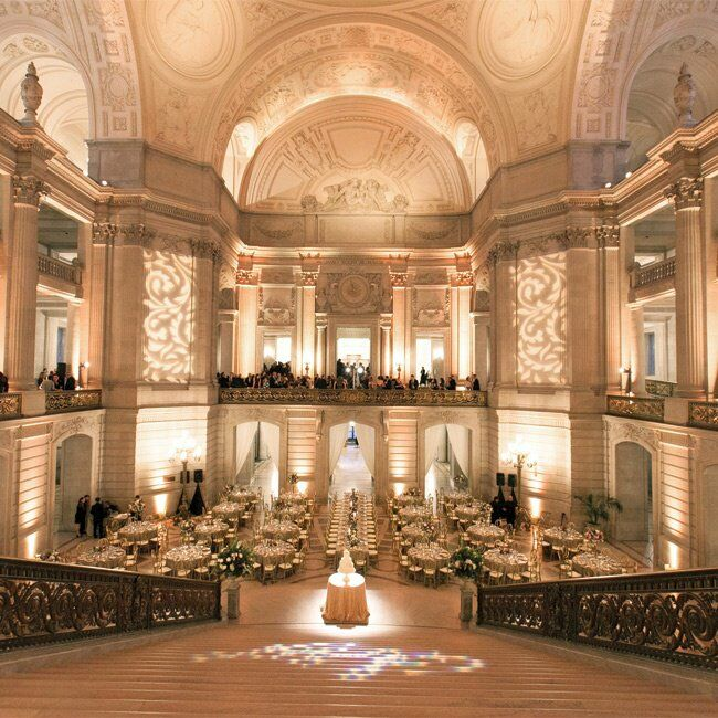 Elegant Wedding Reception Decoration: An Elegant Wedding At San Francisco City Hall In San