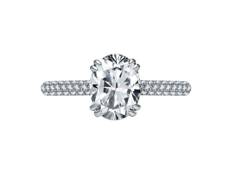 Oval Engagement Ring A. Jaffe