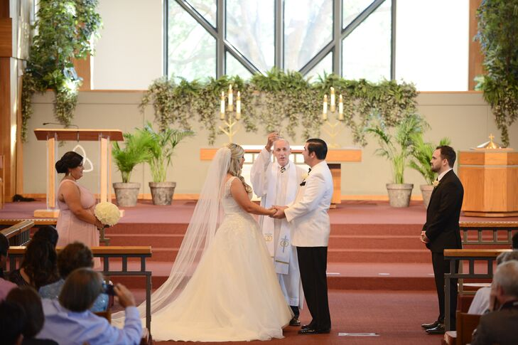The couple exchanged vows at St. Luke's Methodist Church, Jeff's family church.