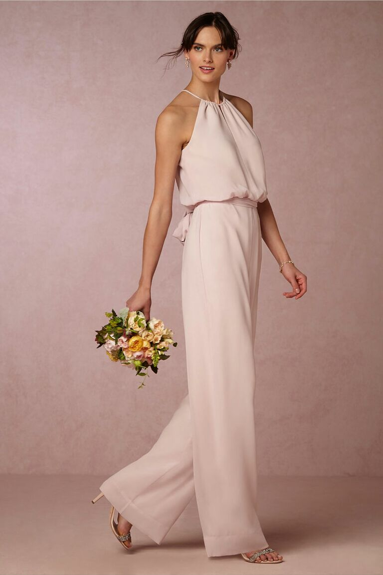 Bridesmaids dresses they can wear again where to wear it pants look just as pretty as traditional dresses and have plenty of chances to be worn again at a rooftop happy hour or a weekend away ombrellifo Choice Image