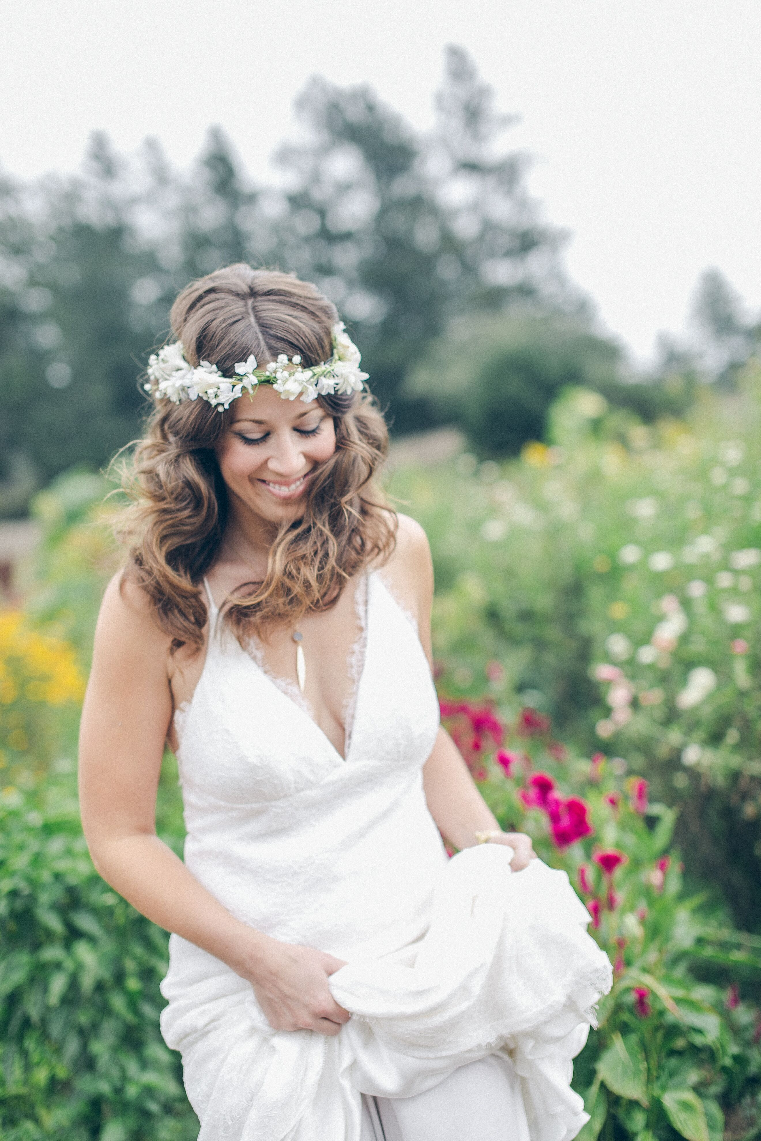 White Tuberose Flower Crown