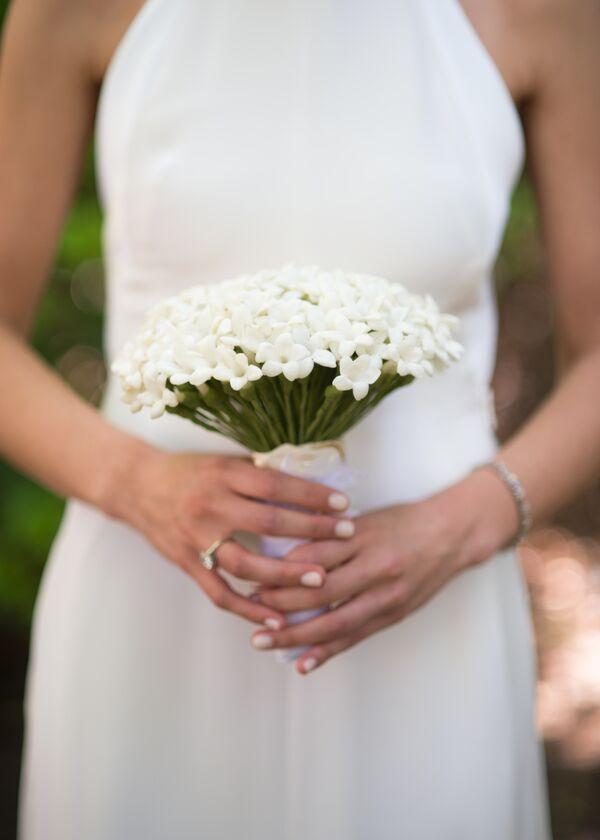 Simple White Stephanotis Bridal Bouquet