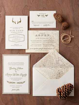 Regas Paper pocket wedding invitation