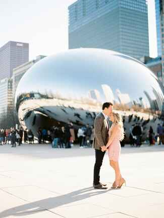 millennium park engagement shoot