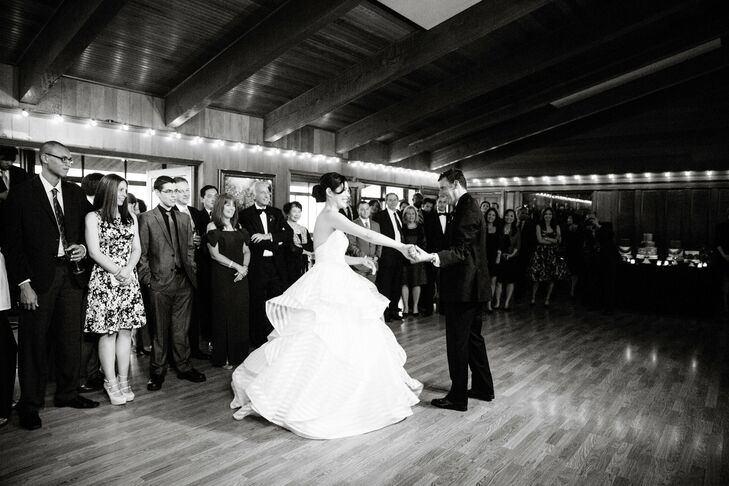The couple shared their first dance to Center of Gravity by Yo La Tengo.