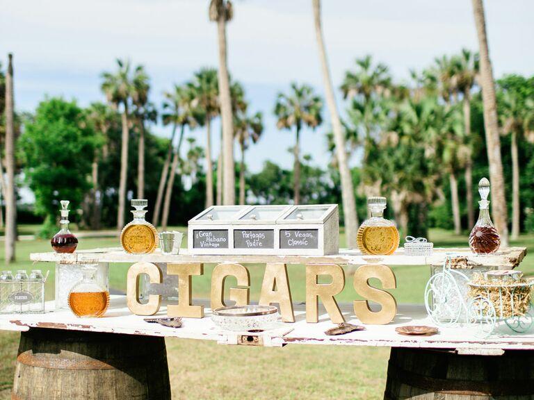 Wedding Reception DIY Cigar Bar