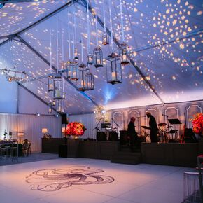 Beach wedding decorations accents colorful tented reception junglespirit Image collections