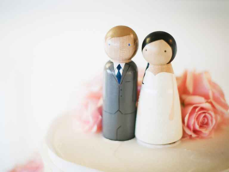 Wedding cake couple topper