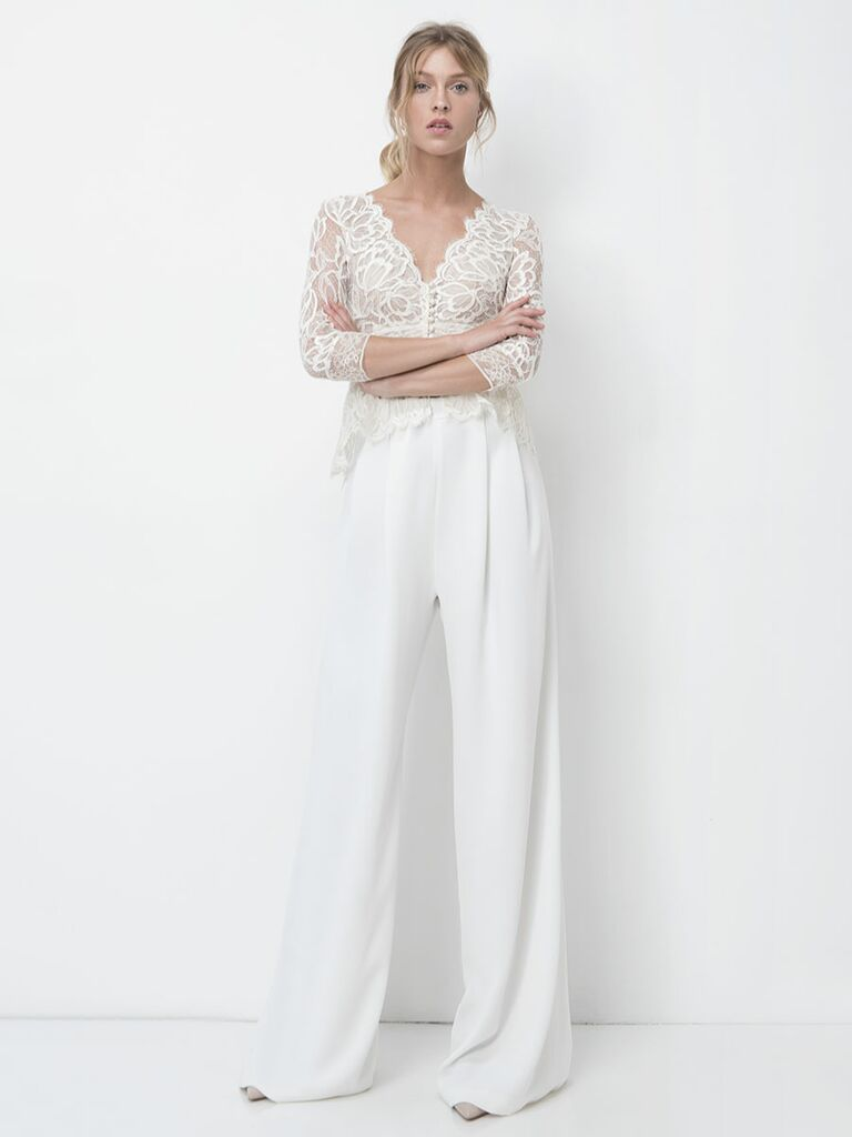 Lihi Hod Fall 2018 wedding dresses wide-leg pants