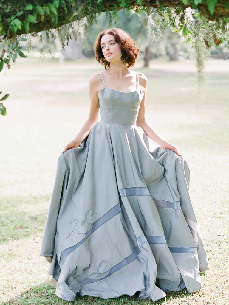 Blue Tara LaTour wedding gown