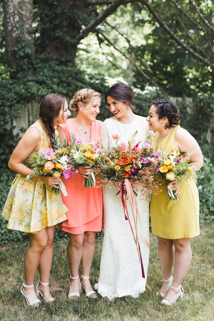 Citrus Cocktail Bridesmaid Dresses
