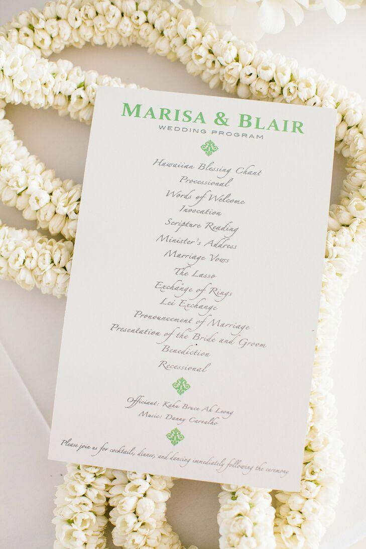 simple wedding program design