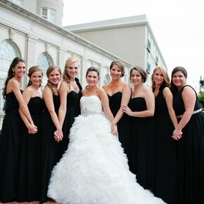 Black bridesmaid dress pictures