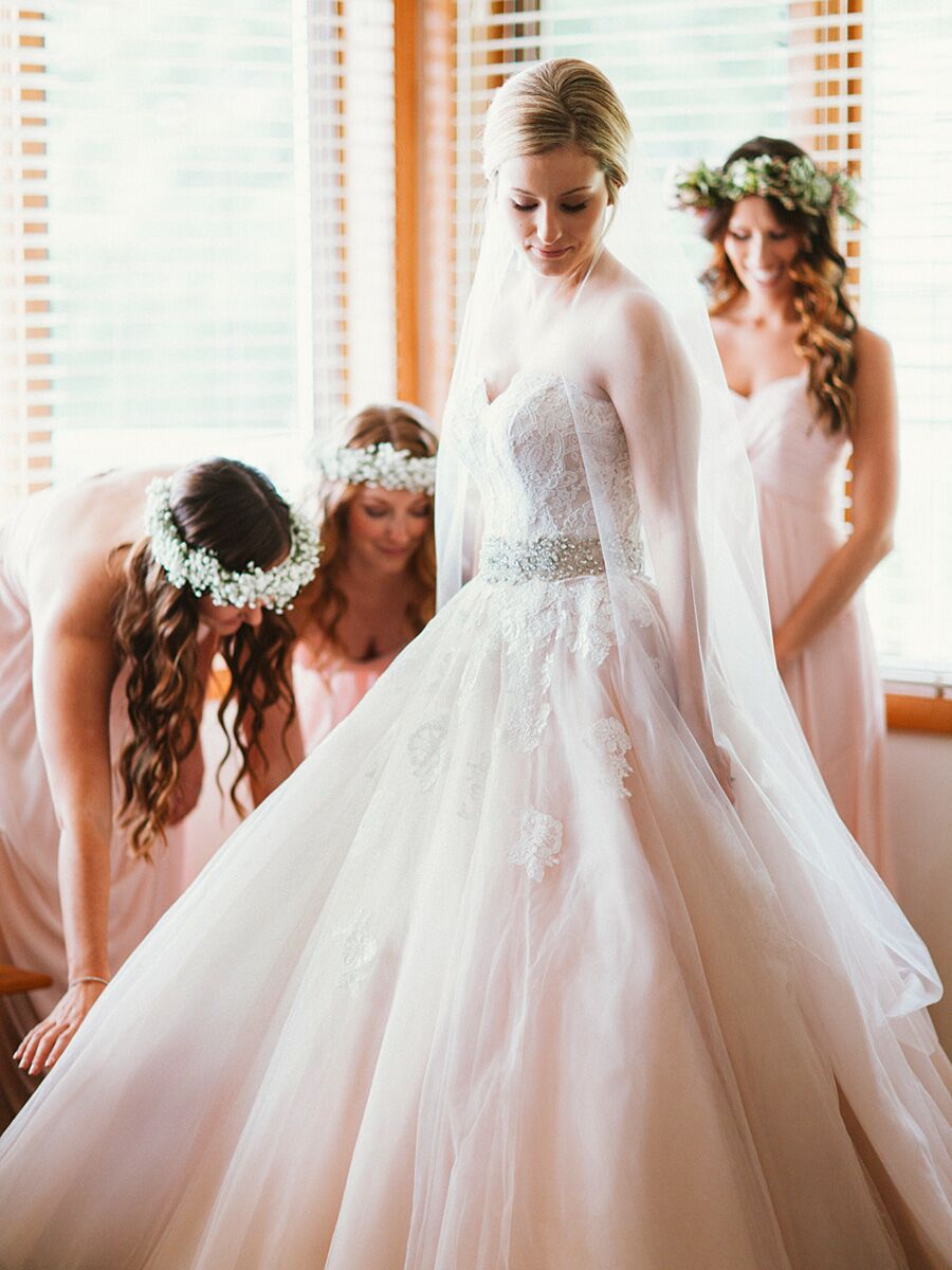 The Prettiest Blush and Light Pink Wedding Gowns
