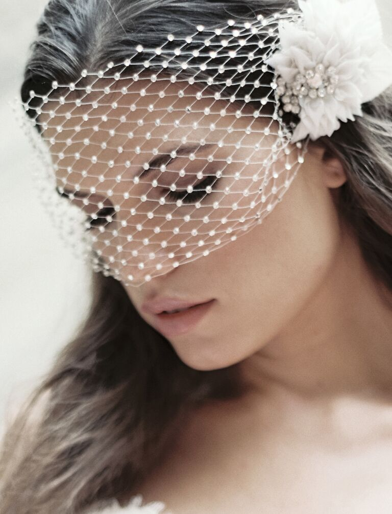 Birdcage wedding eye veil by Enchanted Atelier