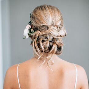 Wedding hairstyles romantic open back dress junglespirit Choice Image