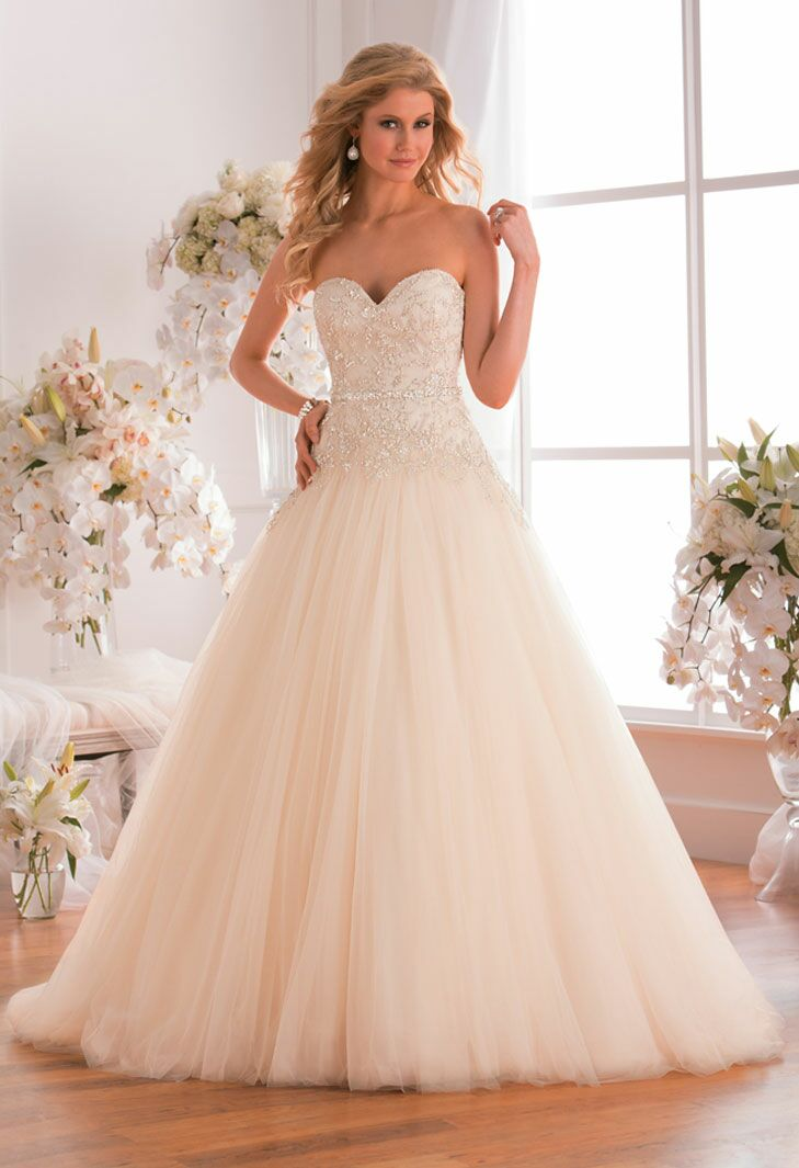 jasmine bridal strapless modified ball gown plus size wedding dress