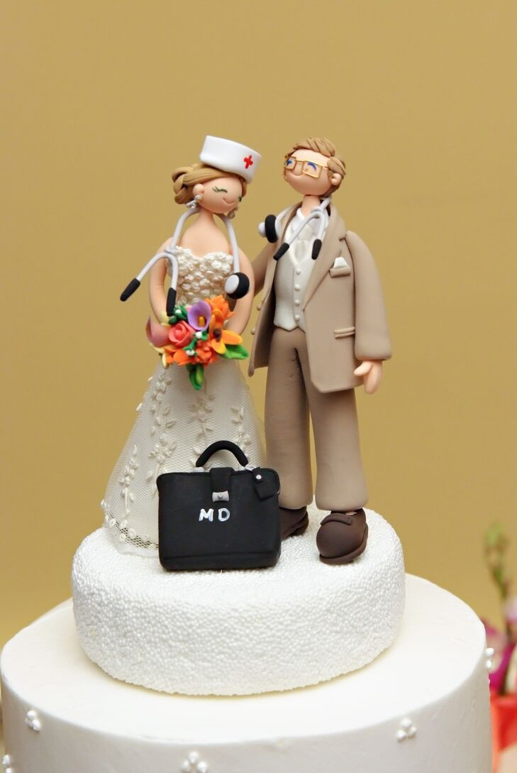 Fun Nurse and Doctor Cake Topper