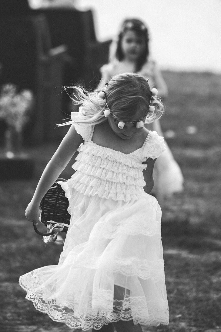 White ruffled flower girl dress mightylinksfo