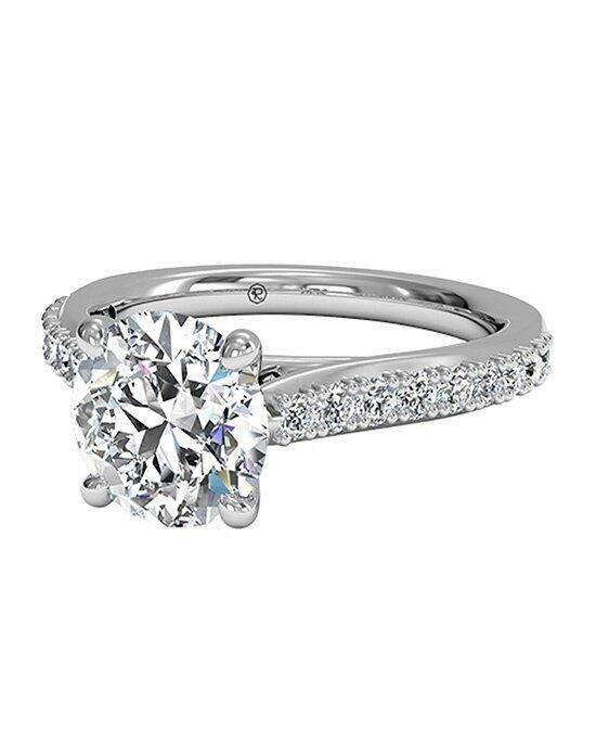 Ritani Round Cut French-Set Diamond Band Engagement Ring with Surprise Diamonds in Platinum (0.24 CTW) Engagement Ring photo