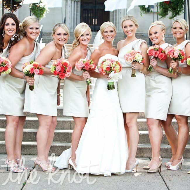 Champagne-colored Bridesmaid Dresses