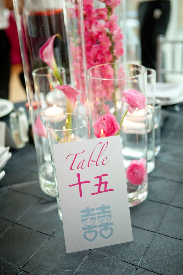Chinese and English Table Numbers