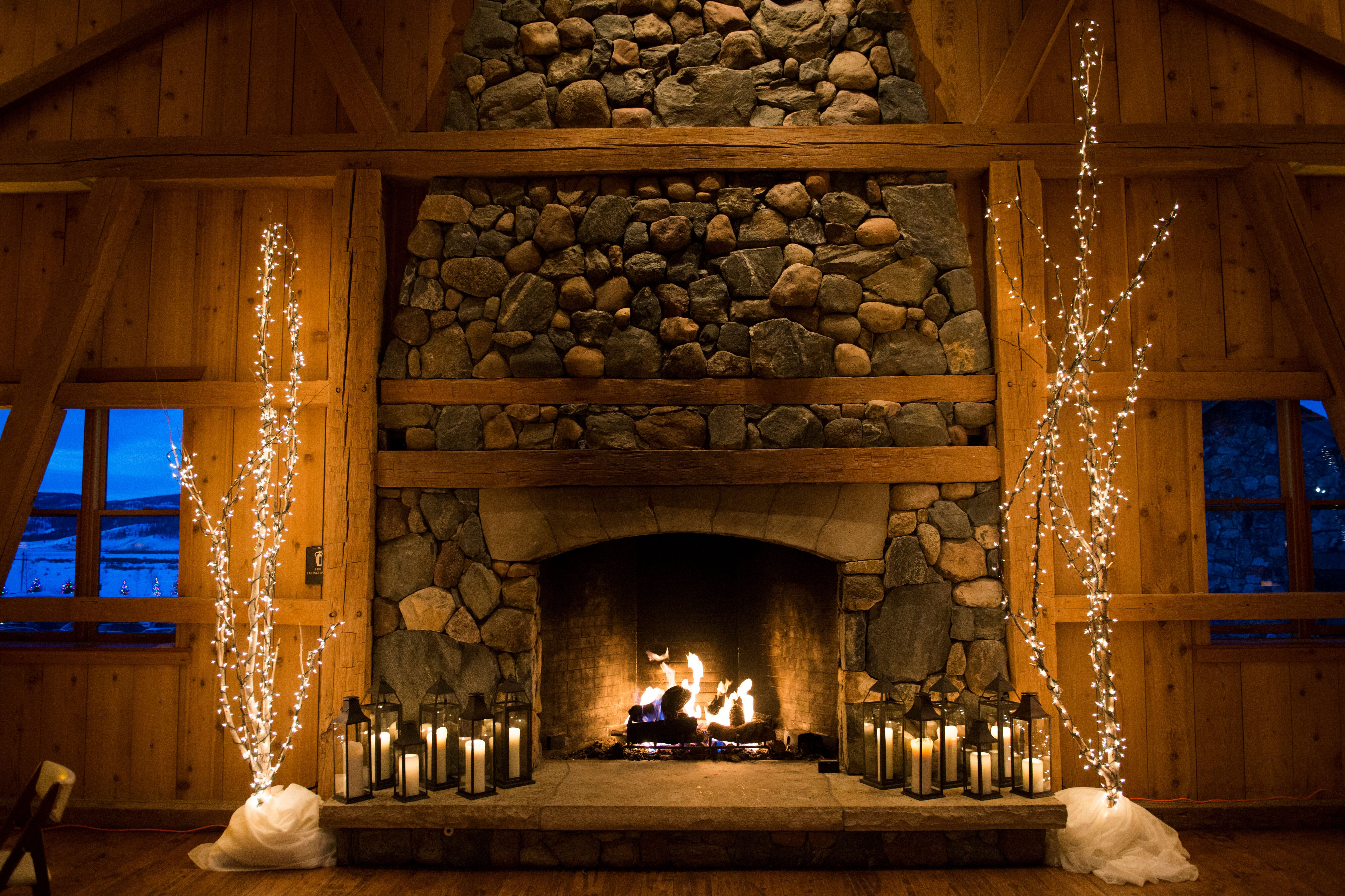 Rustic Romantic Fireplace At Devil S Thumb Ranch