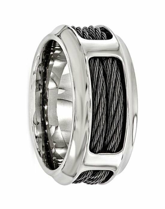 Larson Jewelers ASCANIUS Titanium Ring with Steel Cable Band by Edward Mirell - 10.75 mm Wedding Ring photo