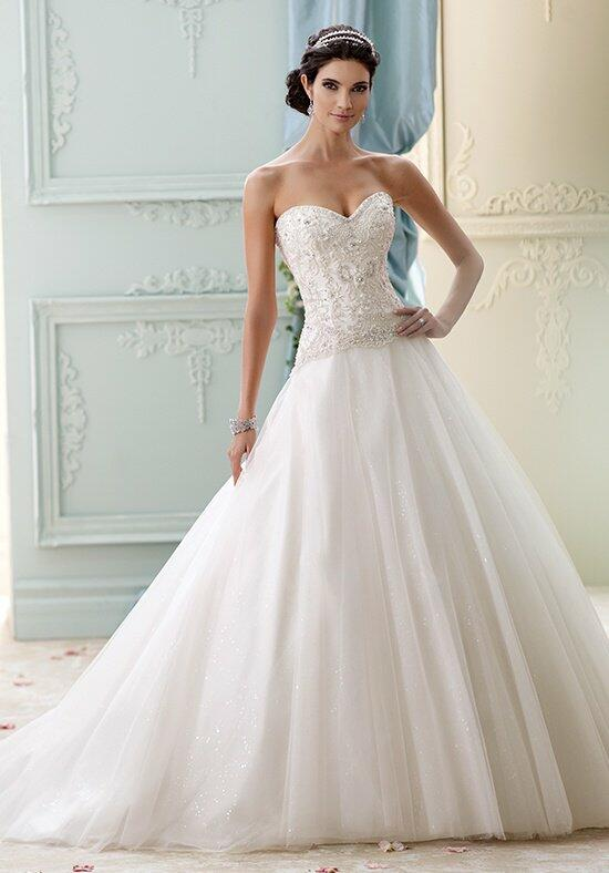 David Tutera for Mon Cheri 215273 - Velvet Wedding Dress photo