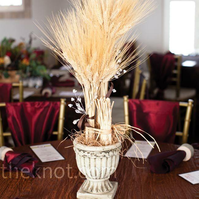 Wheat stalk centerpieces for Wheat centerpieces