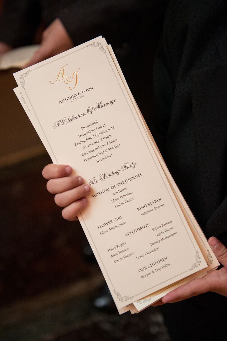 Elegant Wedding Program