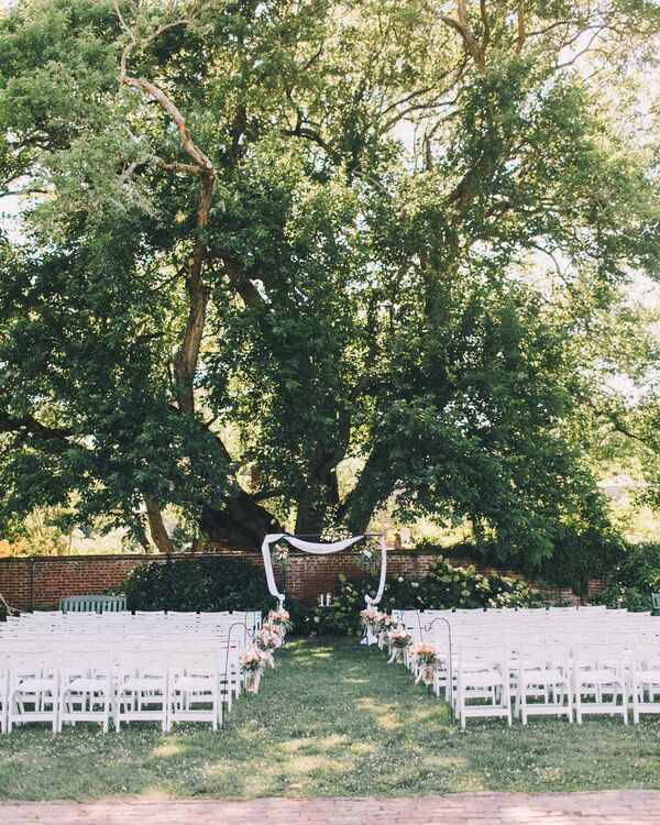 Ceremony Under A Tree: Buttercream Wedding Cake With Strawberry And Vanilla