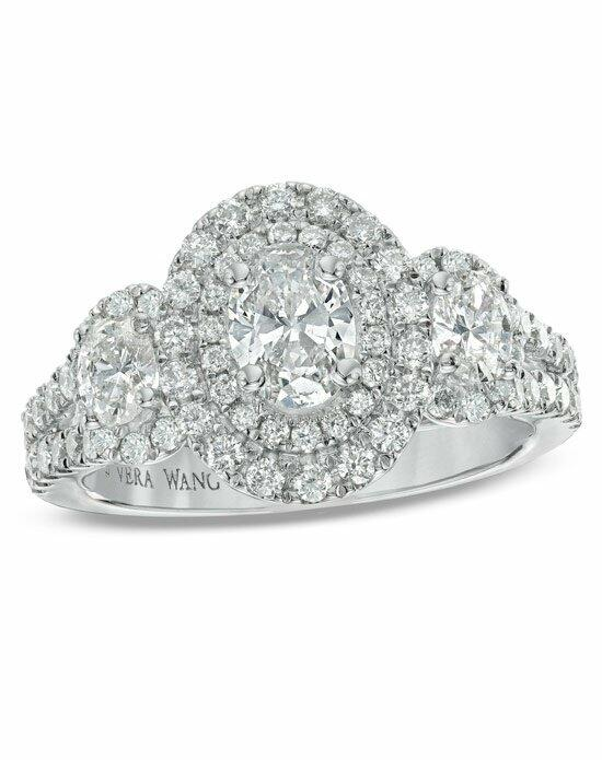 Vera Wang LOVE at Zales Vera Wang LOVE Collection - 1 1/2CT. T.W. Oval-Cut Diamond Framed 3 Stone Engagement Ring in 14K White Gold  19574847 Engagement Ring photo