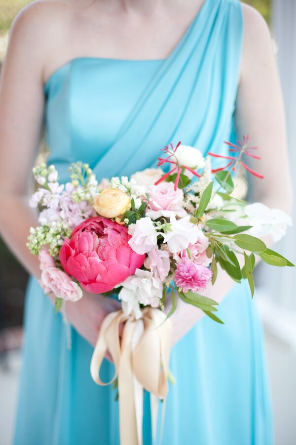 Springy Blue and Pink Garden Color Palette