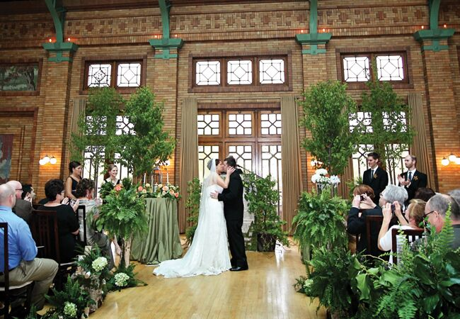Woodland Wedding Ceremony Backdrop Life On Prints Photography TheKnot