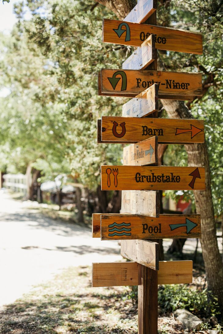 Wooden Camp Wedding Signs