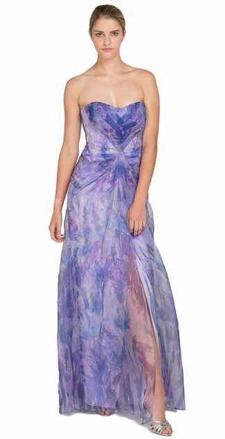 purple bridesmaid dress by Badgley Mischka