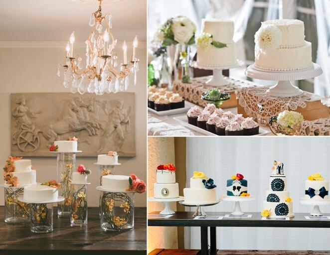 Wedding cake display tables