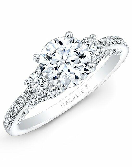 Natalie K Trois Diamants Collection - NK29181-18W Engagement Ring photo