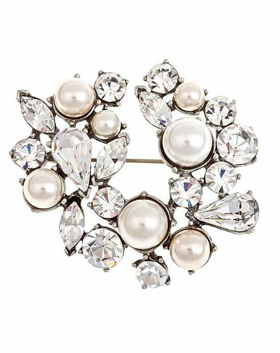 Thomas Laine Bridal Pearl and Crystal Pin Wedding  photo